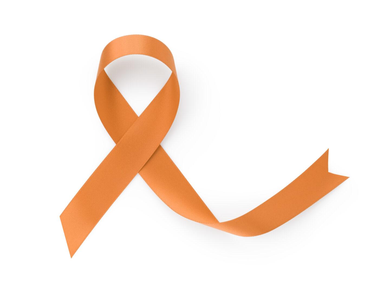 An orange ribbon